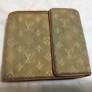 LOUIS VUITTON Trifold Wallet Purse Monogram Mini